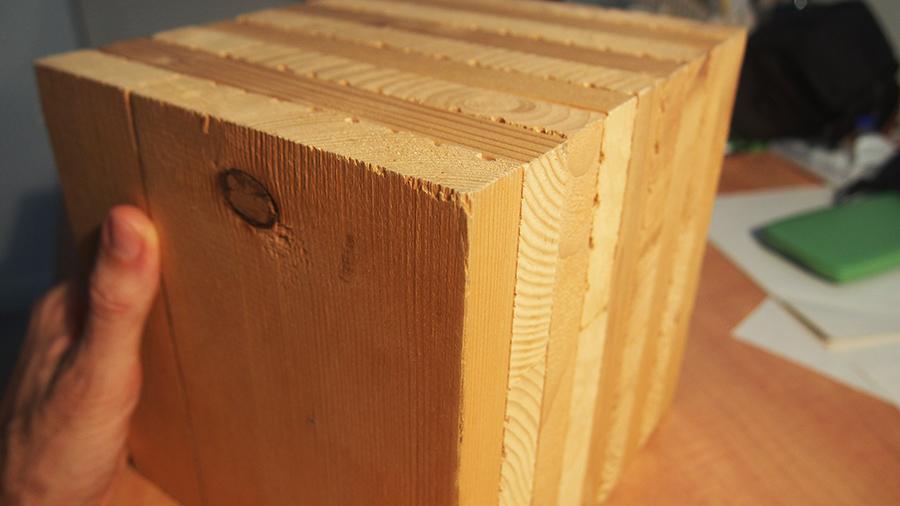 Colibri construction le mat riau mur en bois lamell clou for Bloc construction bois